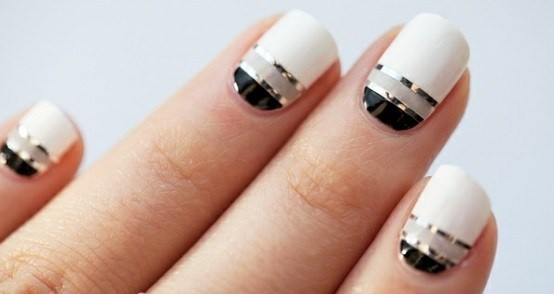 I M Not Sure Where This Nail Art Design Originally Comes From But It S Really Simple And Effective So Chic