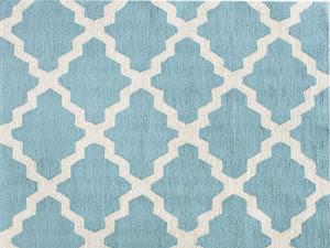 Spa Blue Moroccan Trellis Rug