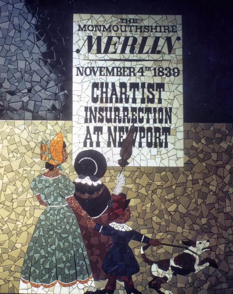 Yr aflonyddwch mawr saturday 5th october high noon for Chartist mural newport