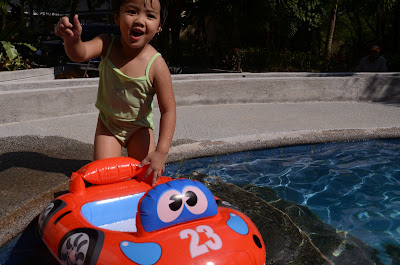 Kecil got the car into the pool