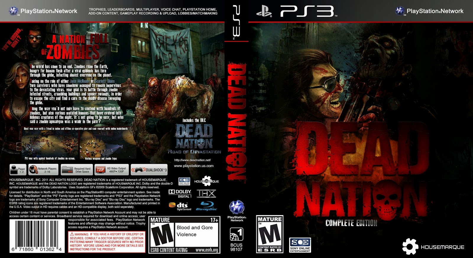 Capa Dead Nation PS3