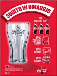 Bicchieri di vetro Coca Cola