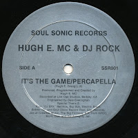 Hugh E. MC & DJ Rock - It's The Game-The Beat Has Bass (Vinyl,12'' 1987)(Soul Sonic Records)