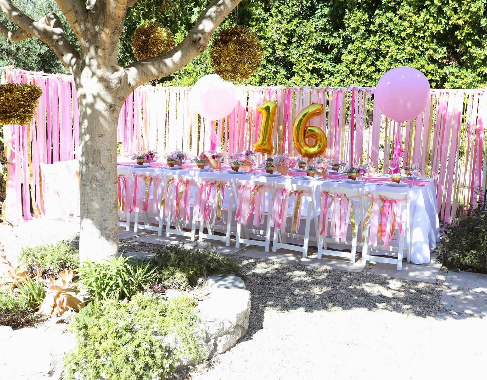 The coop sweet 16 party at home for Home party decorations