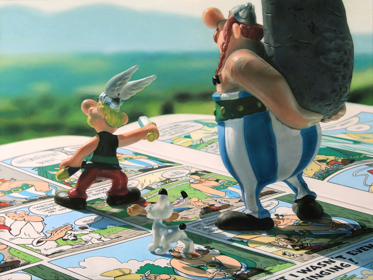 12-Odyssey-Asterix-Obelix-and-Dogmatix-Jason-de-Graaf-Alternate-Reality-living-in-Acrylic-Paintings-www-designstack-co