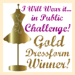 Golden Dress-form Winner!!!