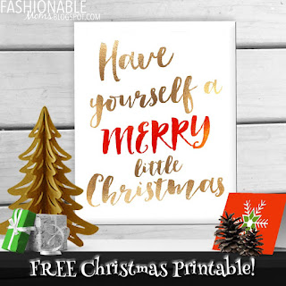 My Fashionable Designs Free Printable Have Yourself A Merry Little Christmas