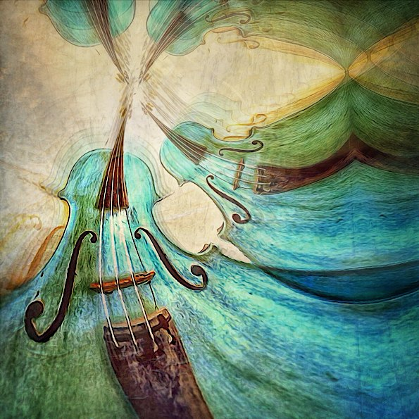Abstract Blue Violin