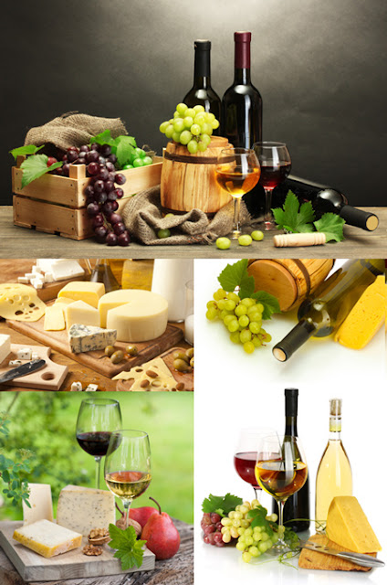 Wine and Cheese - Stock Photos