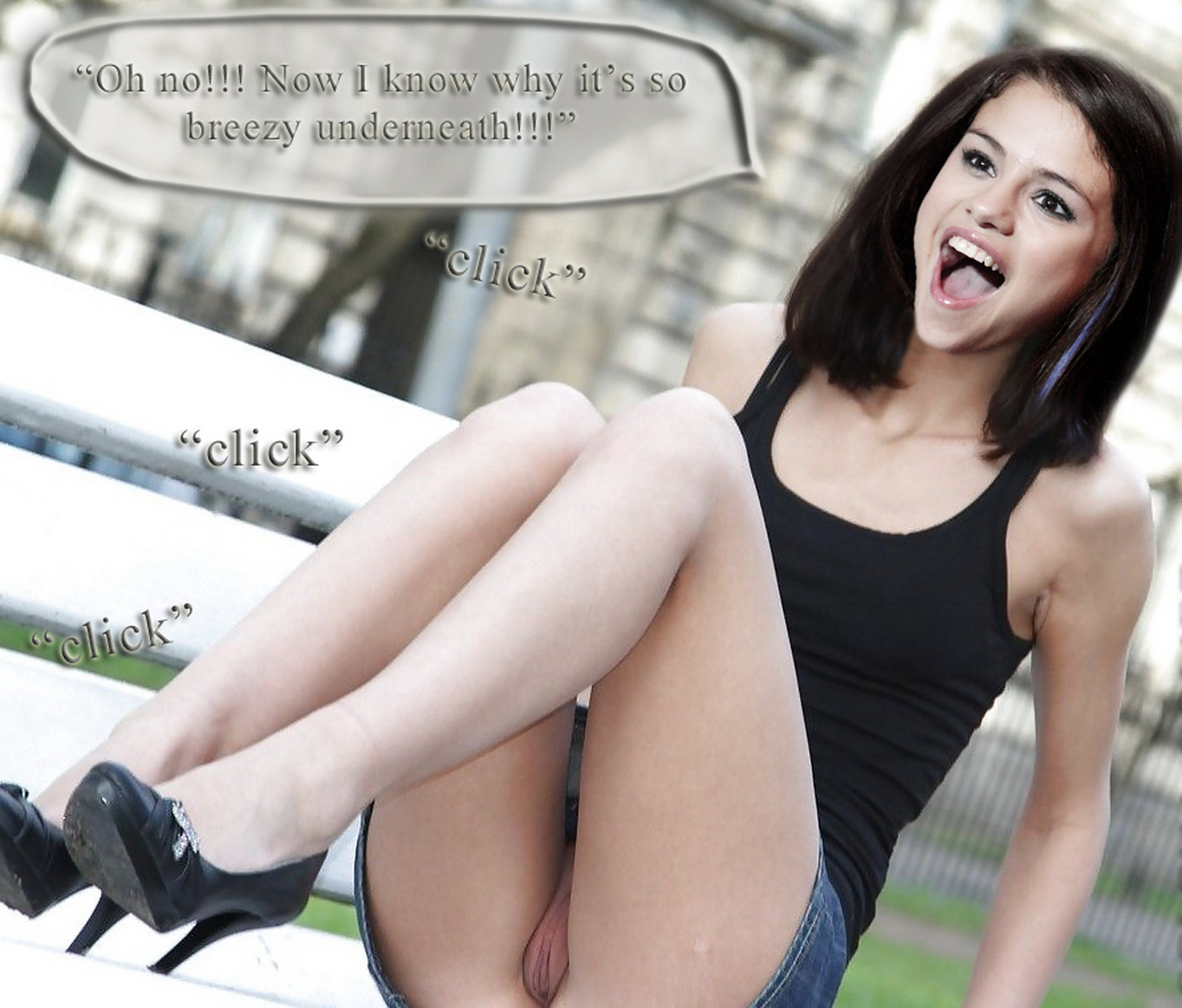 Selena Gomez upskirt Micaela Schafer wearing slutty outfit