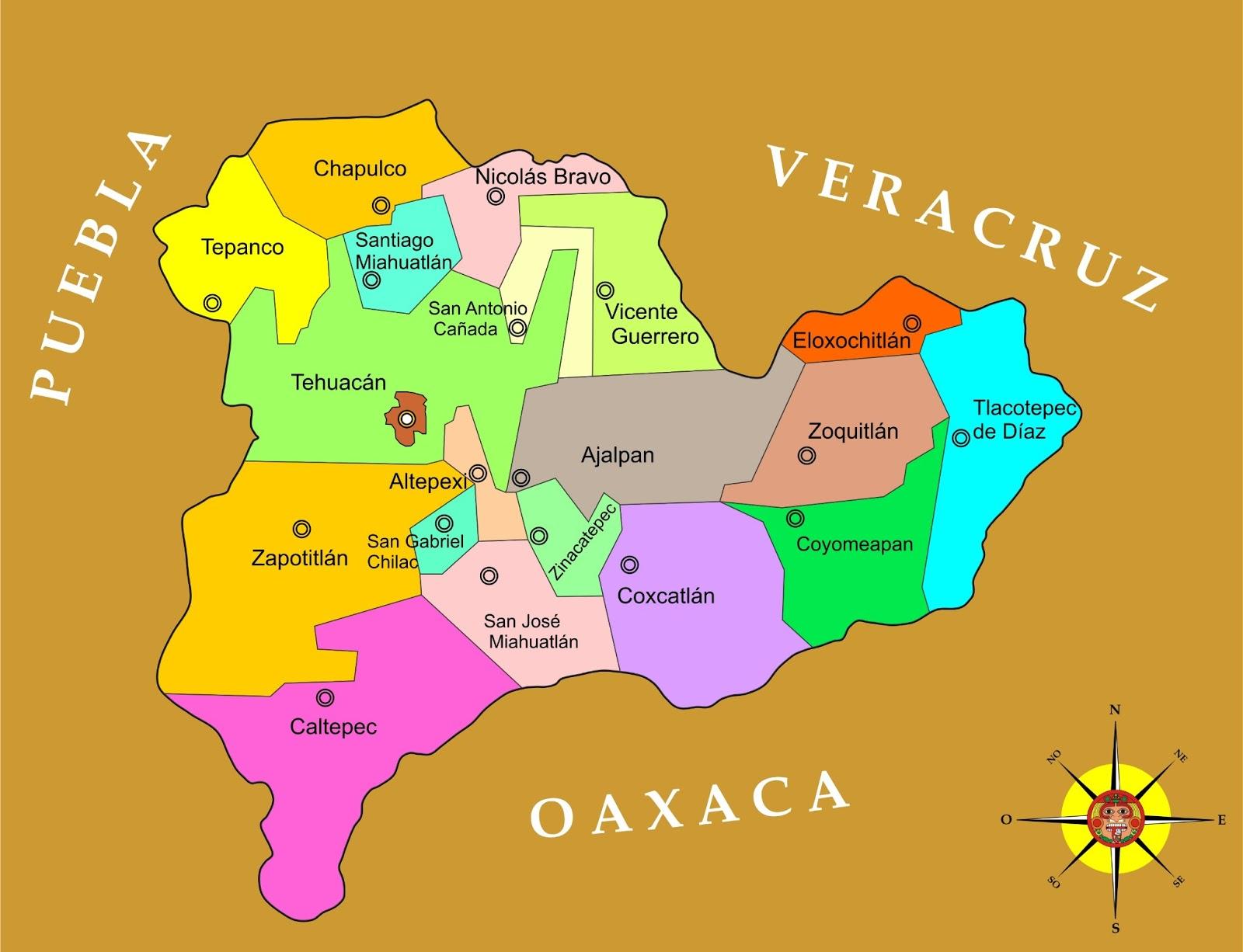 División Política De Tehuacán