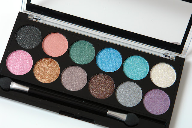 beauty, eye shadows, MUA, palette, review, MUA Glamour Days Palette