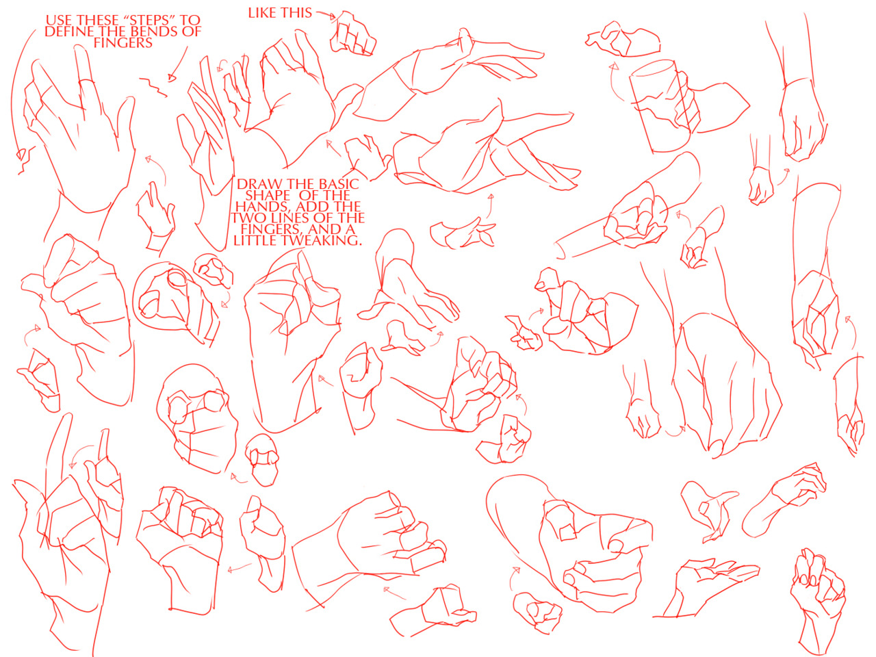 how to draw baby hands