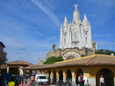Sagrat Cor church on the top of Tibidabo