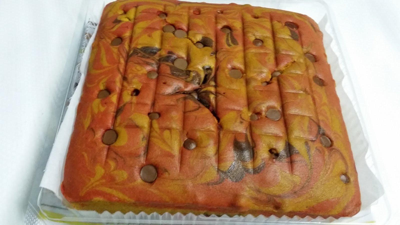 Kek Marble Cip Coklat