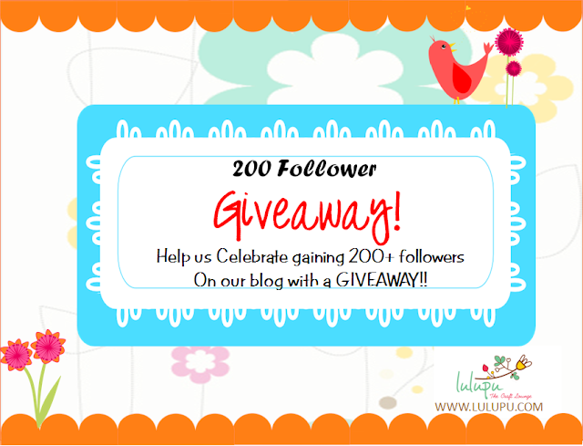Lulupu's 200 blog follower giveaway