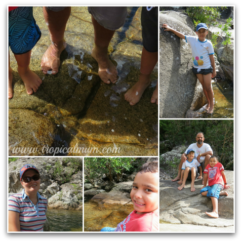 Dipping toes in at Behana Gorge