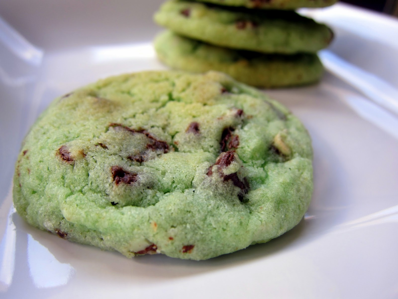 Mint Chocolate Chip Cookies Recipe ~ Easy Dessert Recipes
