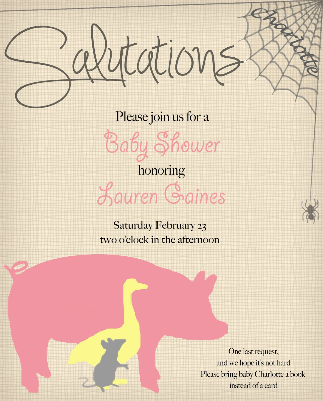 sail south home charlotte 39 s web baby shower