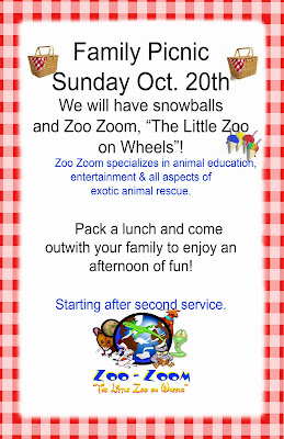 family picnic with zoo zoom trinity bible church