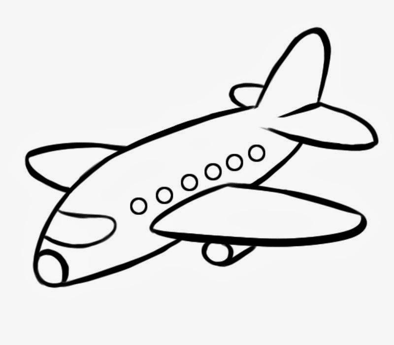 avião para colorir desenhos para colorir
