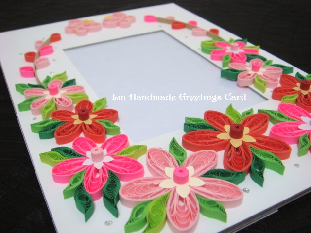 Paper photo frames with quilled flowers mightylinksfo