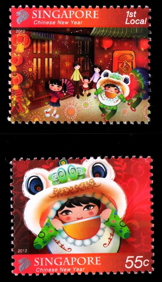 Chinese New Year (1st Local & 55¢ stamps)