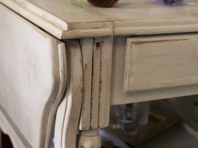bar cart details close-up