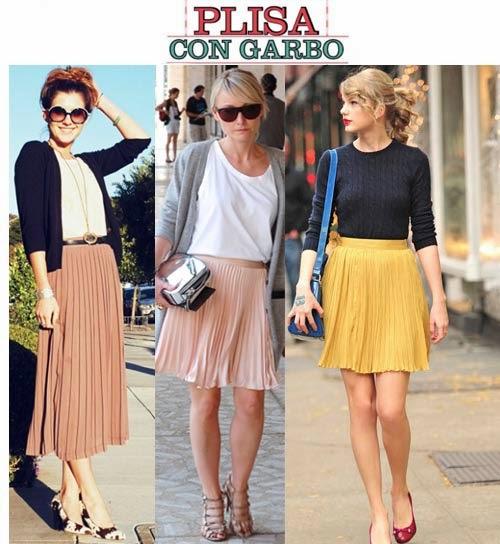 Polleras plisadas de moda verano 2015