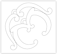 curls ornate free hand embroidery pattern