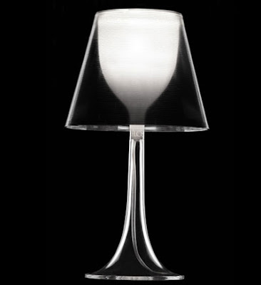 Flos Miss K Table Lamps with a Transparent diffuser, designer collection