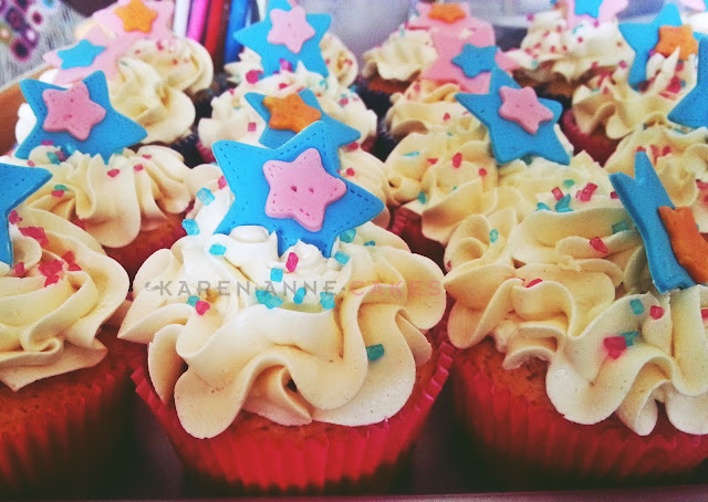 Cupcake toef met swiss meringue botercreme