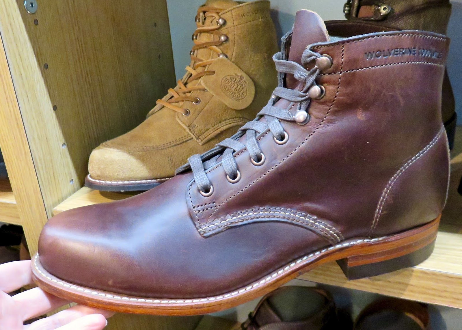 solid hardwear, handsome stitch details, Horween® Chromexcel® leather upper-hallmarks  of well made footwear-PLUS Made in the USA-Goodyear® Welt Construction ...