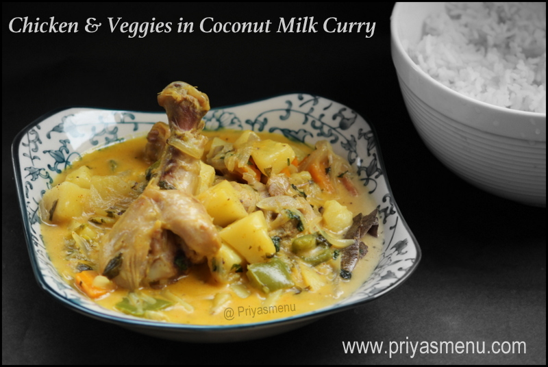 Chicken & Veggies in Coconut Milk Curry