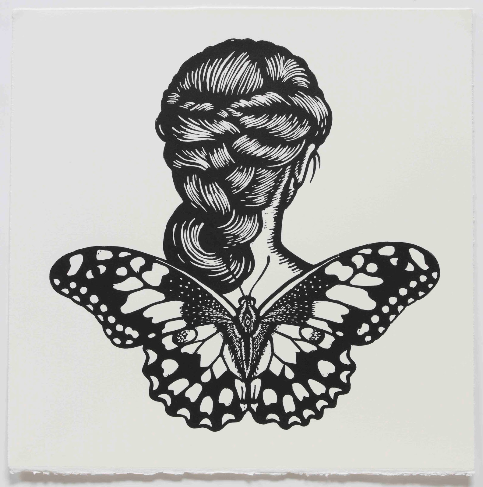 Deborah kleins art blog july 2011 contemporary collectable australian printmakers 2011 chequered swallowtail winged woman biocorpaavc