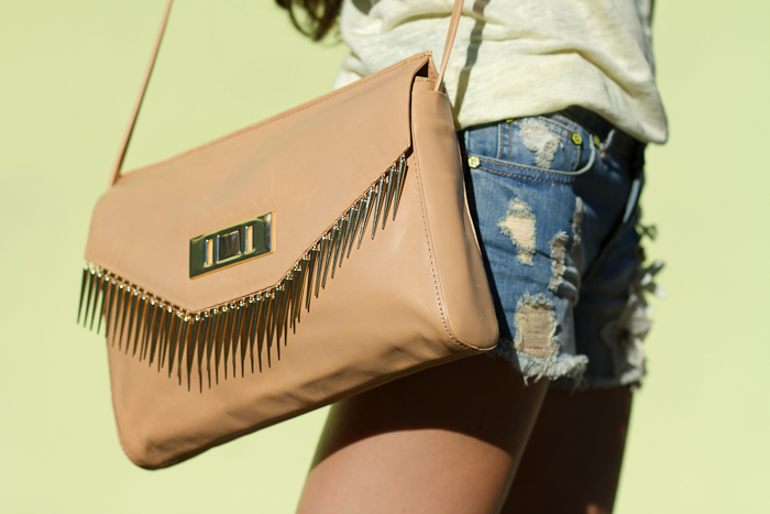 Leather Bag with spikes Bolso de piel con pinchos