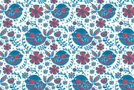 The Flowery Blue Bird by Haidi Shabrina