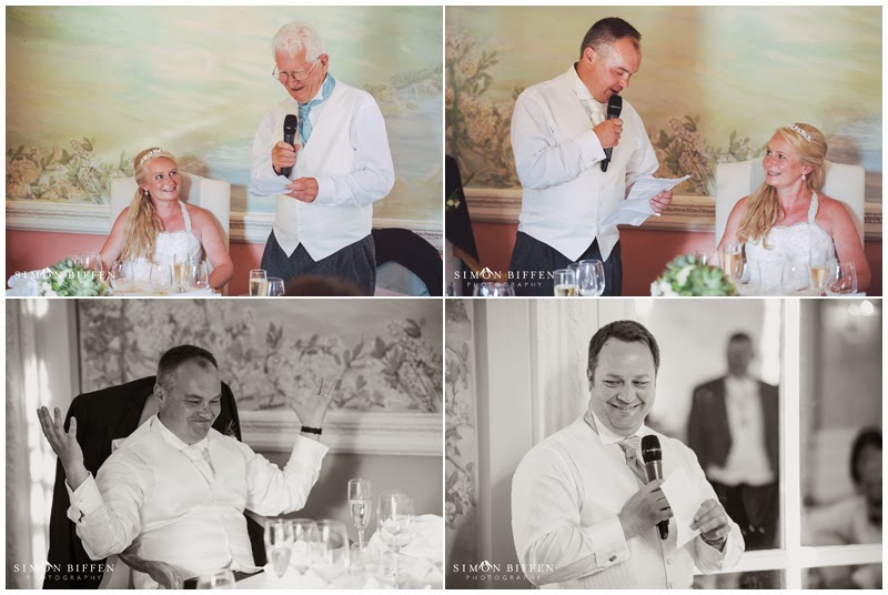 Speeches at Danesfield House wedding