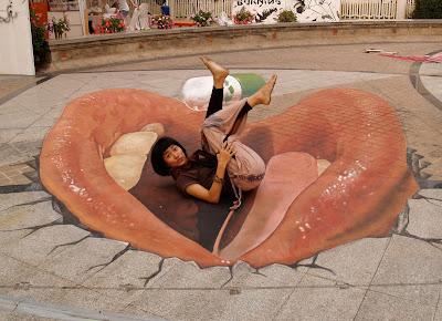 3d chalk sidewalk art - spanish artist juandres vera - street painter