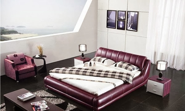 decoration chambre couleur violet. Black Bedroom Furniture Sets. Home Design Ideas