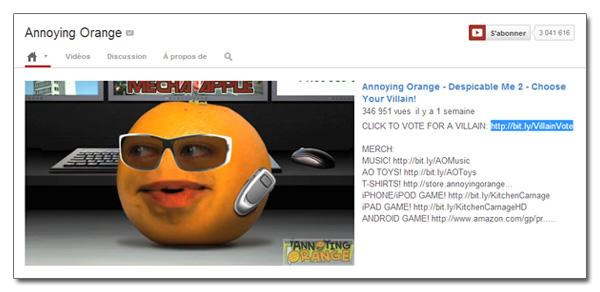 Accueil d'une chaîne YouTube optimisée
