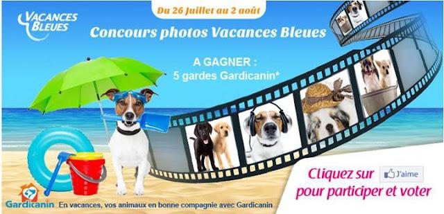 Concours Photos Vacances Bleues: 5 gardes Gardicanin à gagner