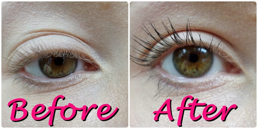 Before and After Miners Volumising Maxi Mascara