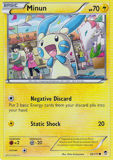 Minun Furious Fists Pokemon Card