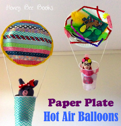 Paper Plate Hot Air Balloons from Honey Bee Books