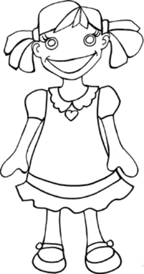 girl coloring pages for kids disney coloring pages