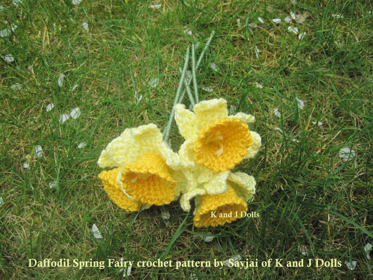 Free Pattern Crochet Daffodil : Daffodil Spring Fairy Crochet Pattern - Sayjai Amigurumi ...