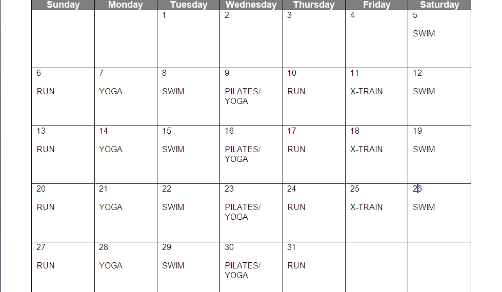 A Good Workout Program http://blurbcolumn.blogspot.com/2013/01/weekly-meal-workout-plan-11313.html