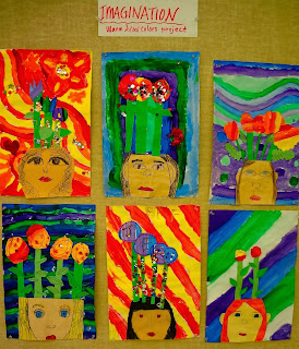 warm and cool colors art lesson for kids, 4th grade art lesson, 5th grade art