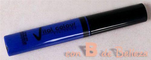 Pestañas color azul